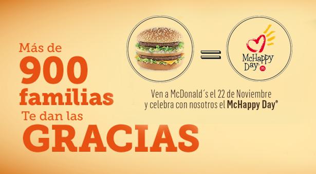 Hoy comerte un Big Mac ayudará a familias - 22 Noviembre McHappy Day