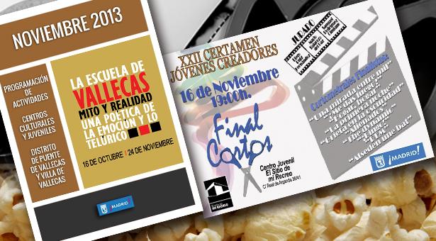 Noviembre 2013 - Agenda de Actividades - XXII Certamen de Jóvenes Creadores - Final de Cortometrajes