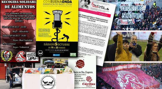 Que más ocurrió en el encuentro del Rayo: Vallecas un barrio obrero, humilde y solidario
