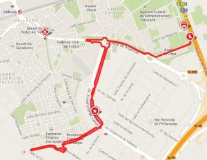 Plano de la ruta (Pincha para ver en Google Maps)