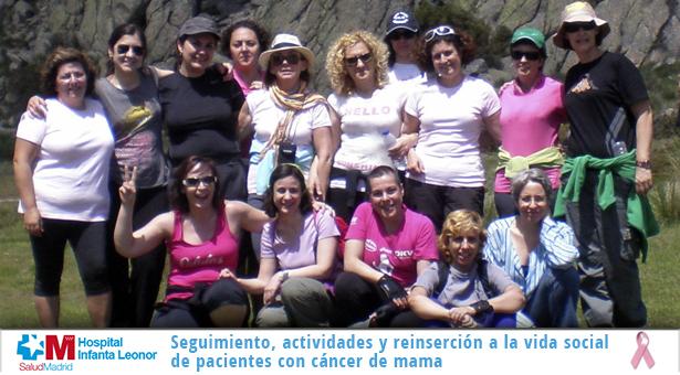Seguimiento, actividades y reinserción a la vida social de pacientes con cáncer de mama desde el Infanta Leonor