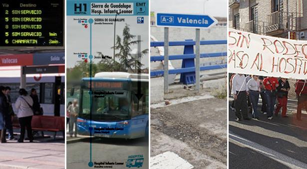 Huelga de Renfe en Noviembre, eliminación de líneas de autobuses, Afluencia y transporte hacía el Infanta Leonor y nuevo acceso Ensanche A-3
