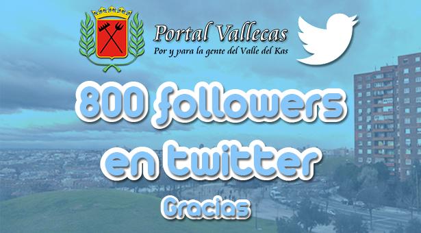 800 followers en nuestra cuenta de Twitter