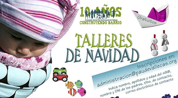 Talleres de Navidad infantiles en la Asociación Vecinal PAU Ensanche de Vallecas