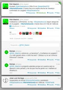 Avisos de PAH Madrid en Twitter