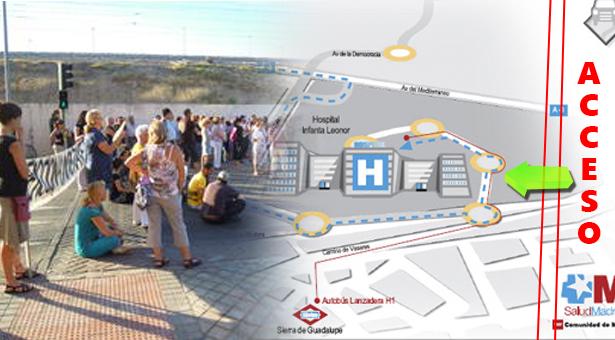 Imagen del plano en el que se oculta la zona e inexistencia del acceso desde Villa de Vallecas