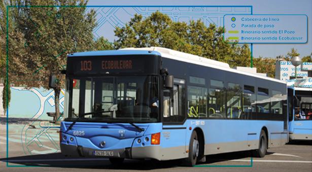 Prolongación en la línea 103 de autobús en el Ensanche de Vallecas y opiniones