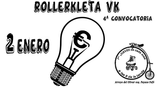 2 Enero 20h - 4ª RollerKleta Vallekana. ¡Un Voltio gratis!