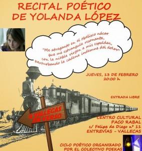 "Cartel ""A Vallecas en verso"" - Yolanda Lopez - Febrero 2014"