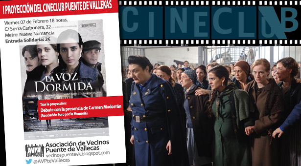 Cine Club en la A.A.V.V. Puente de Vallecas - La voz dormida