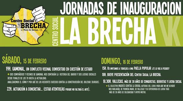 Jornadas de Inauguración del Centro Social La Brecha de Vallecas