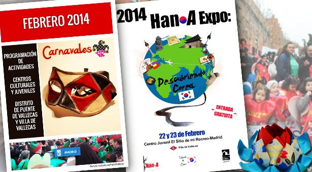 Febrero 2014 – Agenda de Actividades – Carnaval y Han-A Expo: Descubriendo Corea