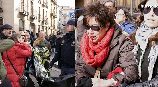 Carga indiscriminada contra gente mayor en Valladolid