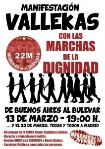 13M - Manifestación de apoyo a las Marchas por la dignidad en Vallecas