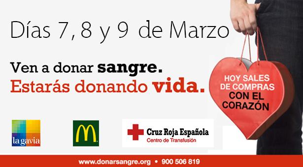 Cruz Roja y el C.C La Gavia organizan una campaña de Donación de Sangre