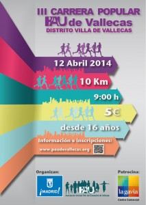 Cartel de la III Carrera Popular del Pau de Vallecas