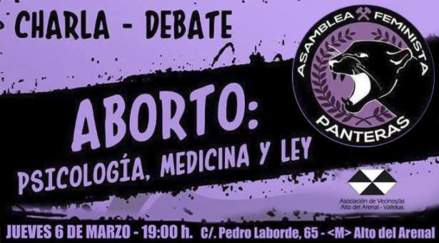 Charla-Debate sobre el Aborto - Asamblea Feminista Panteras en la A.A.V.V. Alto del Arenal