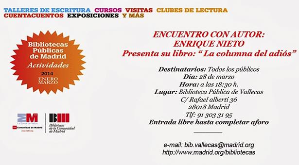 Enrique Nieto presenta su novela
