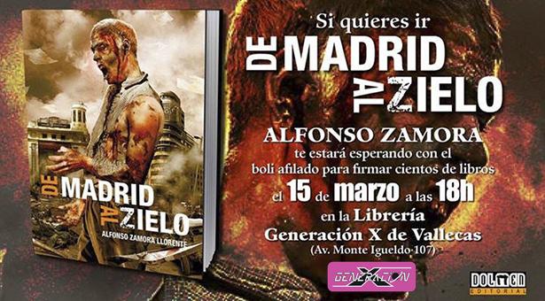 Firma de ejemplares 'De Madrid al Zielo' de Alfonso Zamora en la tienda Generación X de Vallecas