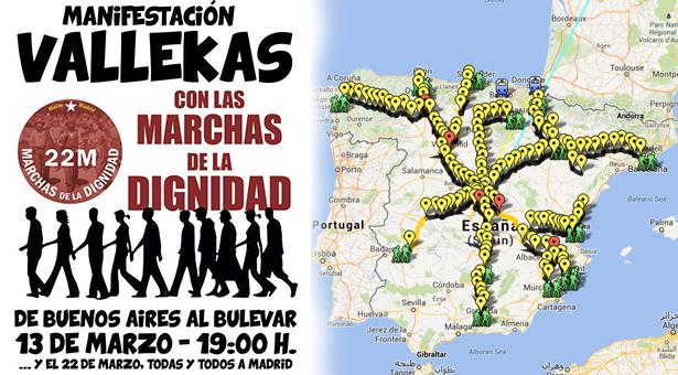 Vallecas con las Marchas de la Dignidad - 13 Marzo