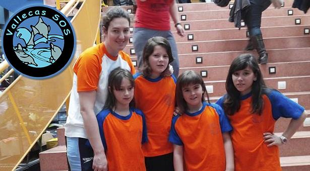 Las alevines del Vallecas S.O.S. en un Campeonato de España
