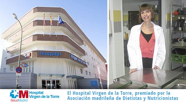 El Hospital Virgen de la Torre, premiado por la Asociación madrileña de Dietistas y Nutricionistas