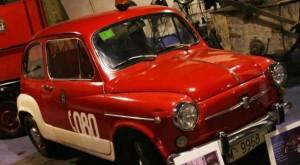 Vehículos antiguos de la exposición