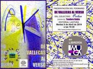 """Cartel de la presentación del poemario """"De Vallecas al verso"""""""