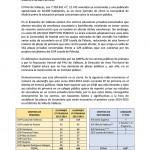 Nota de prensa emitida por las AMPAs del Pau de Vallecas (Pág. 1/2)
