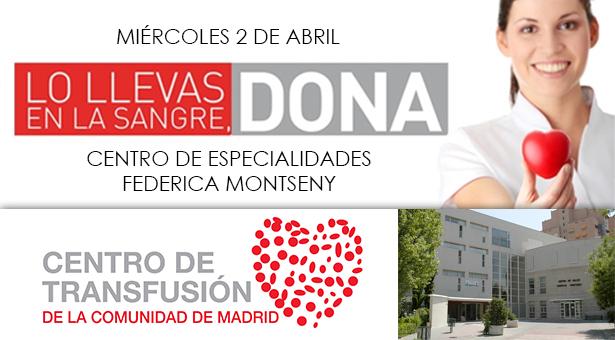 2 de Abril - Donación de sangre en el C.E. Federica Montseny