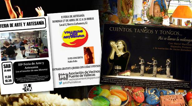 Ocio, Arte y Artesanía en la Librería Muga y la A.A.V.V. Puente de Vallecas