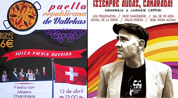 12 y 13 de Abril - Paella Republicana de Vallekas y Homenaje a Germán Coppini
