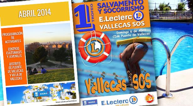 Abril 2014 – Agenda de Actividades – XV Vallecas Calle del libro y I Trofeo de Salvamento y Socorrismo E.Leclerc - Vallecas SOS