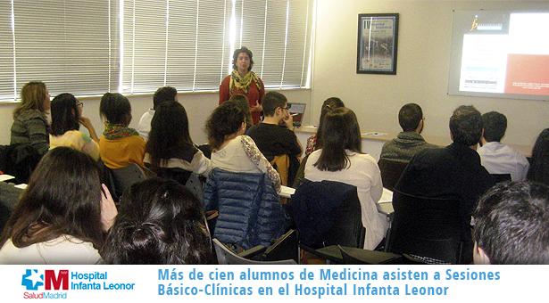 Más de cien alumnos de Medicina asisten a Sesiones Básico-Clínicas en el Hospital Infanta Leonor