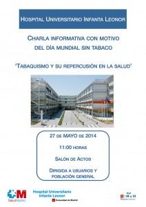 Cartel - 'Tabaquismo y su repercusión en la salud' - 27 de mayo 2014
