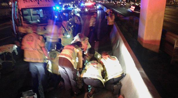 Atropellada una mujer que cruzaba indebidamente por la M-30 a la altura de Puente de Vallecas