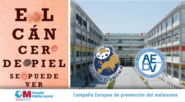 El Hospital Infanta Leonor participó en la Campaña del Euromelanoma