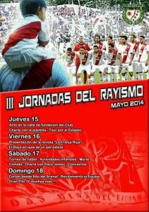 Cartel de las III Jornadas del rayismo 2014 y actividades