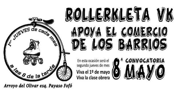 8 de Mayo – 8ª Rollerkleta Vallekana – Apoya el comercio de los barrios