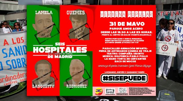 31 de Mayo - Verbena Popular en celebración por el derecho a la Sanidad Pública