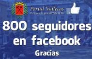 800 Seguidores en nuestra FanPage de facebook