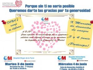 Cartel - Maratones donación 3 y 4 junio 2014