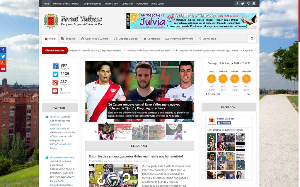 Presentacion de la nueva web