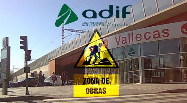 Adif comienza las obras para mejora de la estación de Vallecas