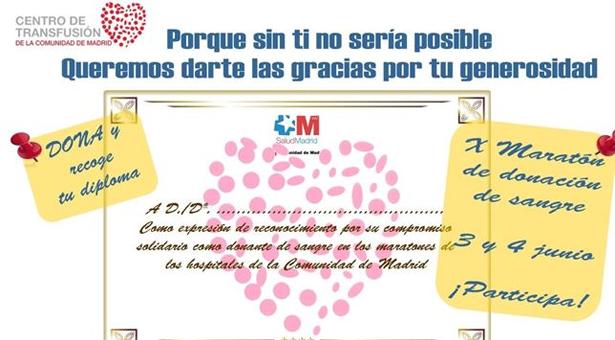 Maratones de donación de sangre en los hospitales de Vallecas