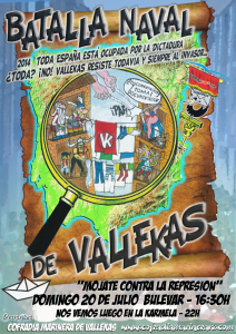 Cartel de la Batalla Naval de Vallekas 2014