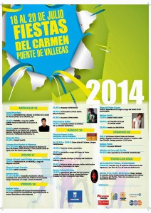 Programación de las Fiestas del Carmen 2014 en Vallecas