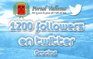 Más de 1200 followers en twitter