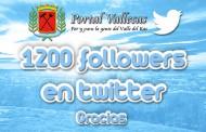 Más de 1200 followers en twitter