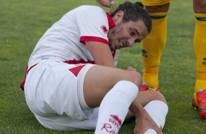 Licá se lamenta por el esguince de tobillo (Foto: Pasión por el Rayo)
